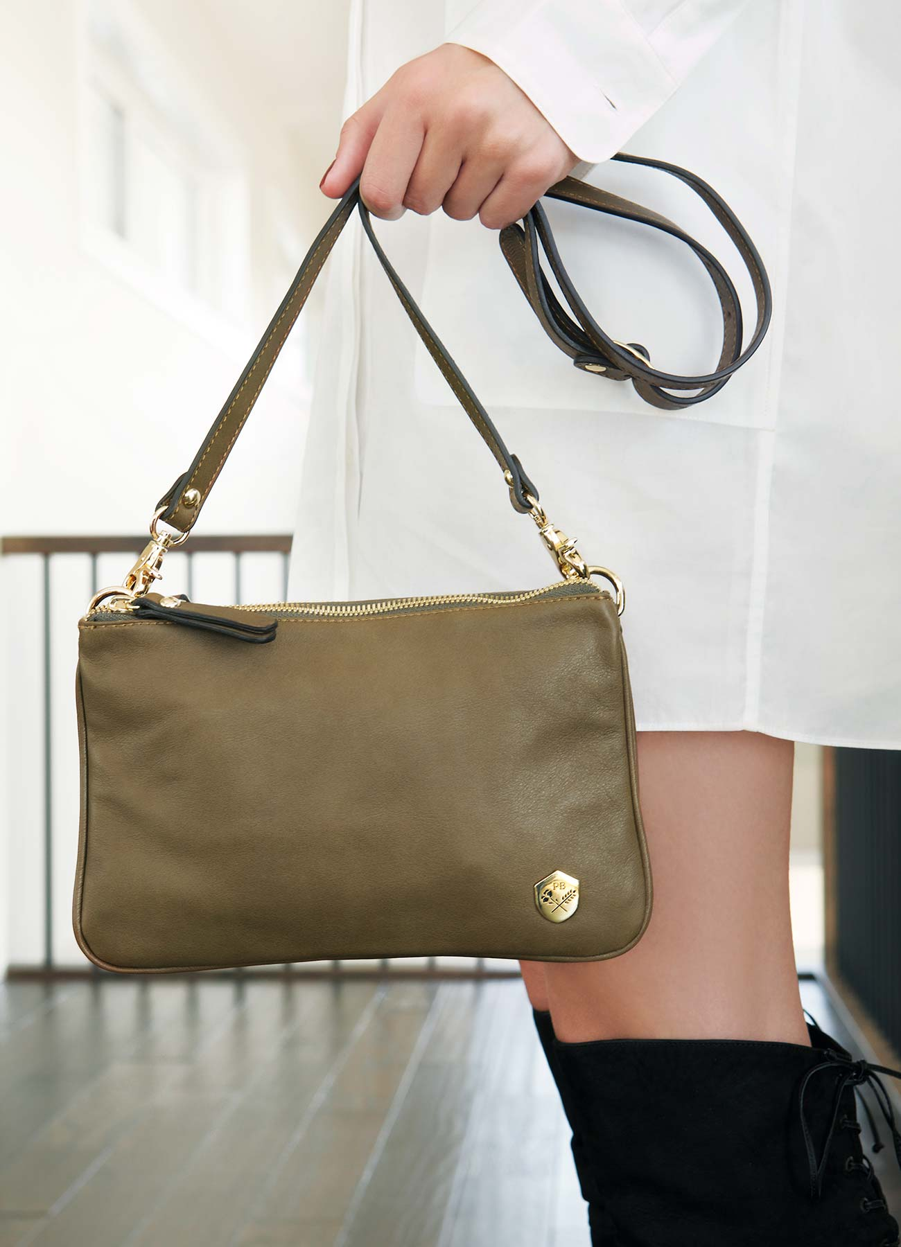 The Essentials Purse in Olive - Poppy Barley