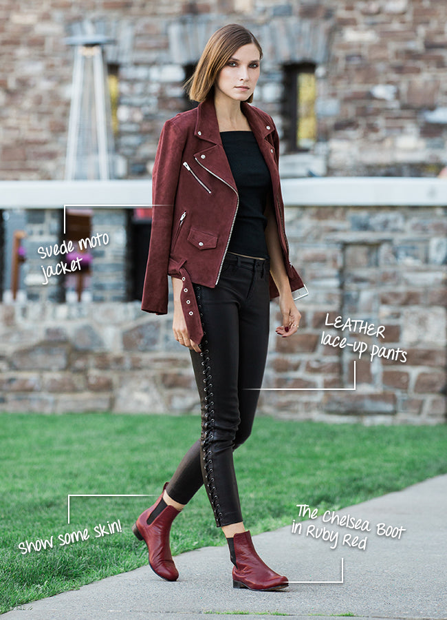 Poppy Barley Fall 2015 Collection: Fall fashion breakdown and The Chelsea Boot in Ruby Red - fall 2015 fashion trends