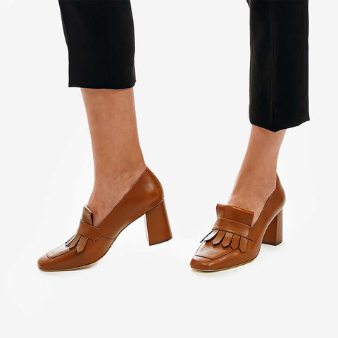 The Heeled Loafer Toffee Tan