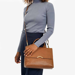 The Shoulder Satchel Toffee Tan