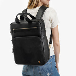 The Backpack Black / Black Nubuck