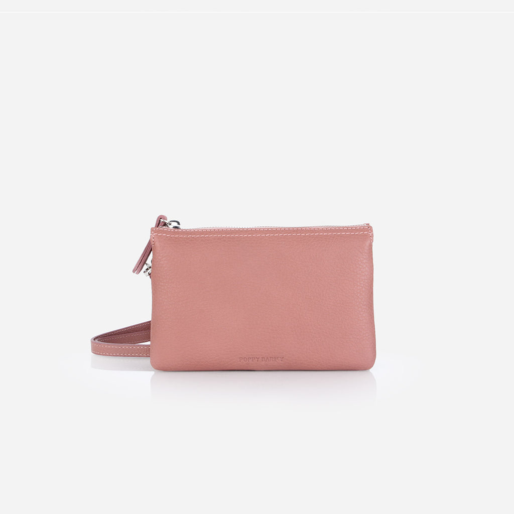 The 3-In-1 Wristlet Dusty Rose Pebble