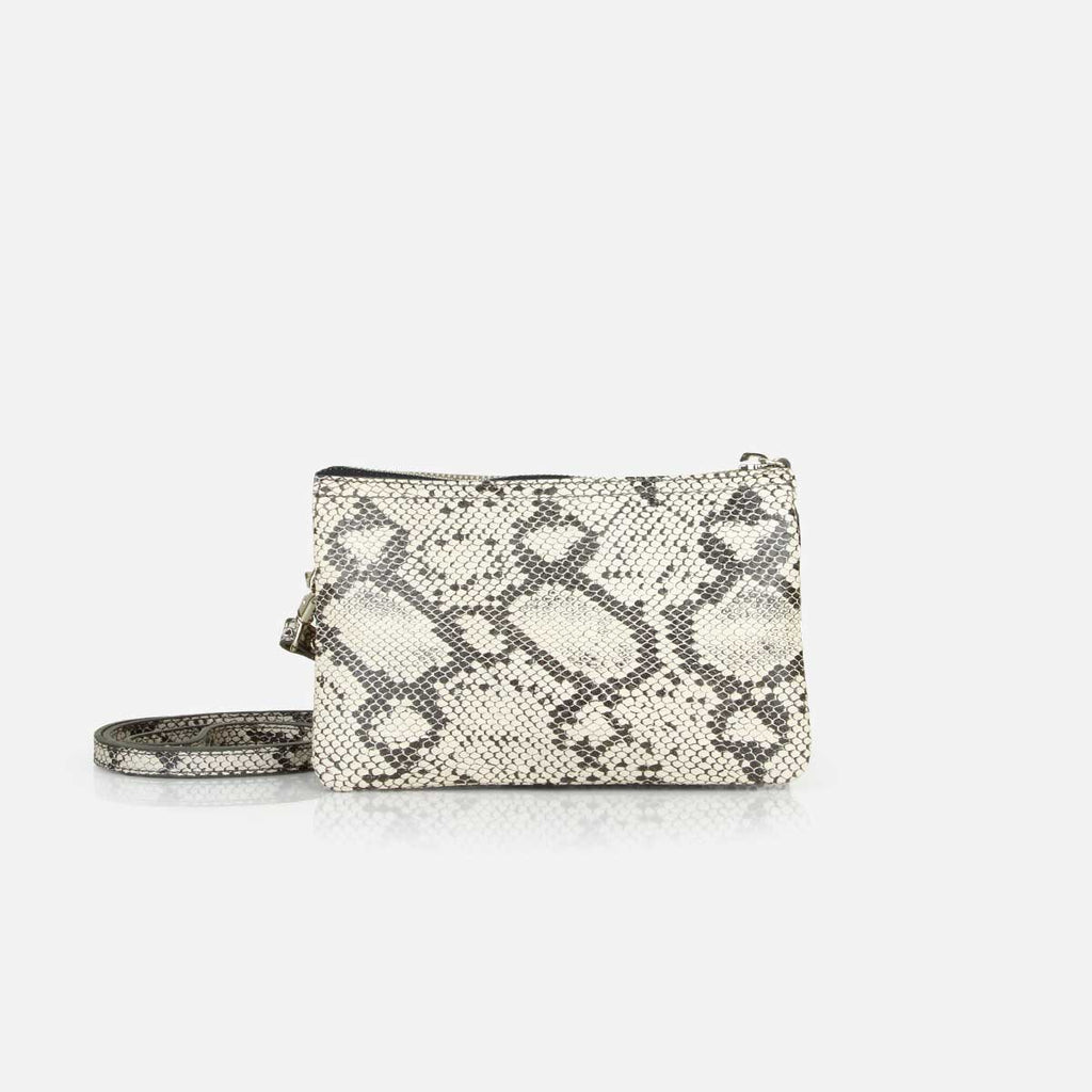The 3-in-1 Wristlet - snake print leather mini wallet purse - Poppy Barley