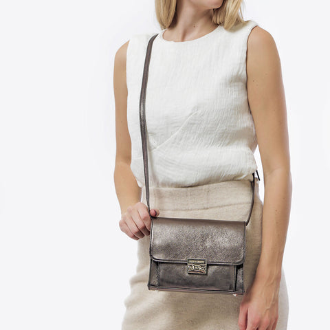 The Mini Shoulder Satchel Graphite