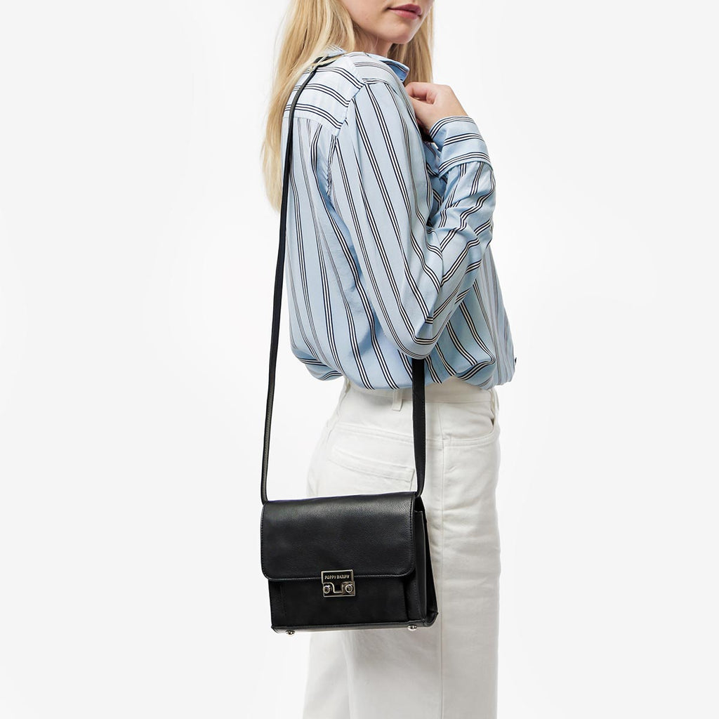 The Mini Shoulder Satchel Black