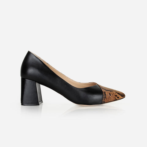 The All-Damn-Day Heel Black/Brown Snake
