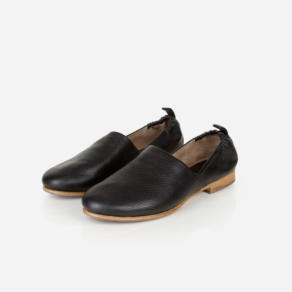 The At-Leisure Slip-On Black Pebble Ready To Wear