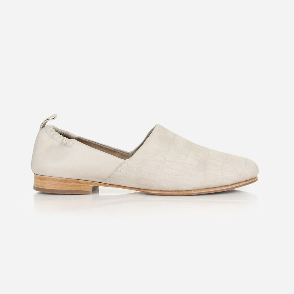 The At-Leisure Slip-On Dove Grey Croc Nubuck Ready To Wear