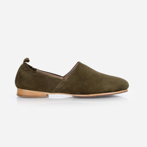 The At-Leisure Slip-On Olive Nubuck Ready To Wear