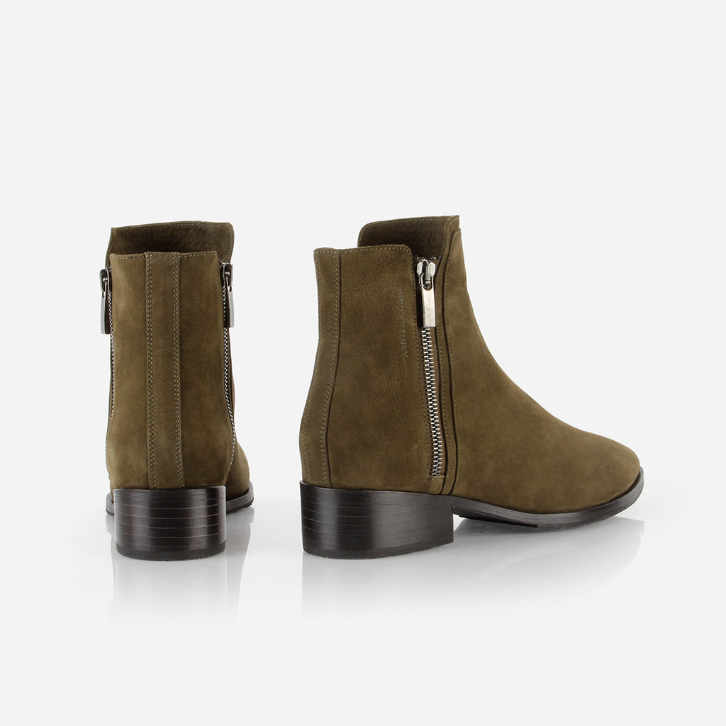 The Backstage Boot Olive Green Nubuck Ready To Wear