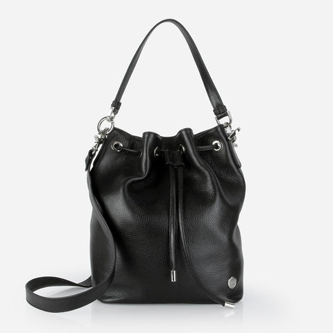 The Bucket Bag Black Pebble