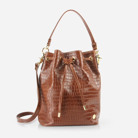 The Bucket Bag Toffee Tan Croc