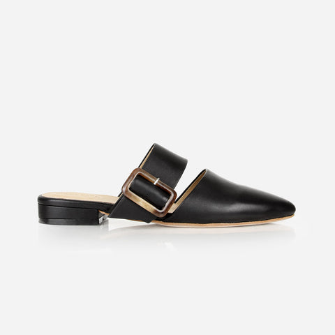 The Buckle-Up Mule Black Ready To Wear