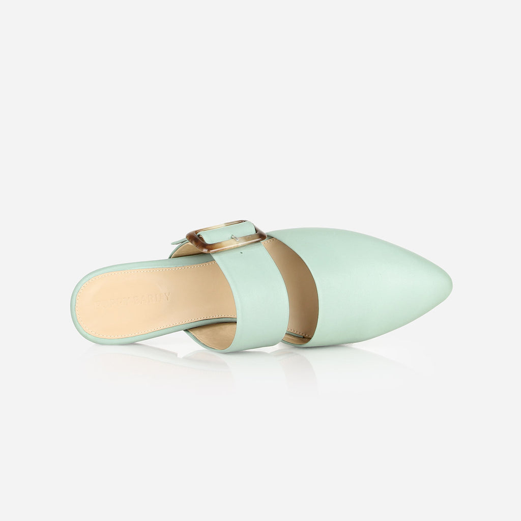 The Buckle-Up Mule Mint Ready To Wear