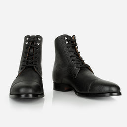 The Buffalo Boot Black Pebble Made To Order