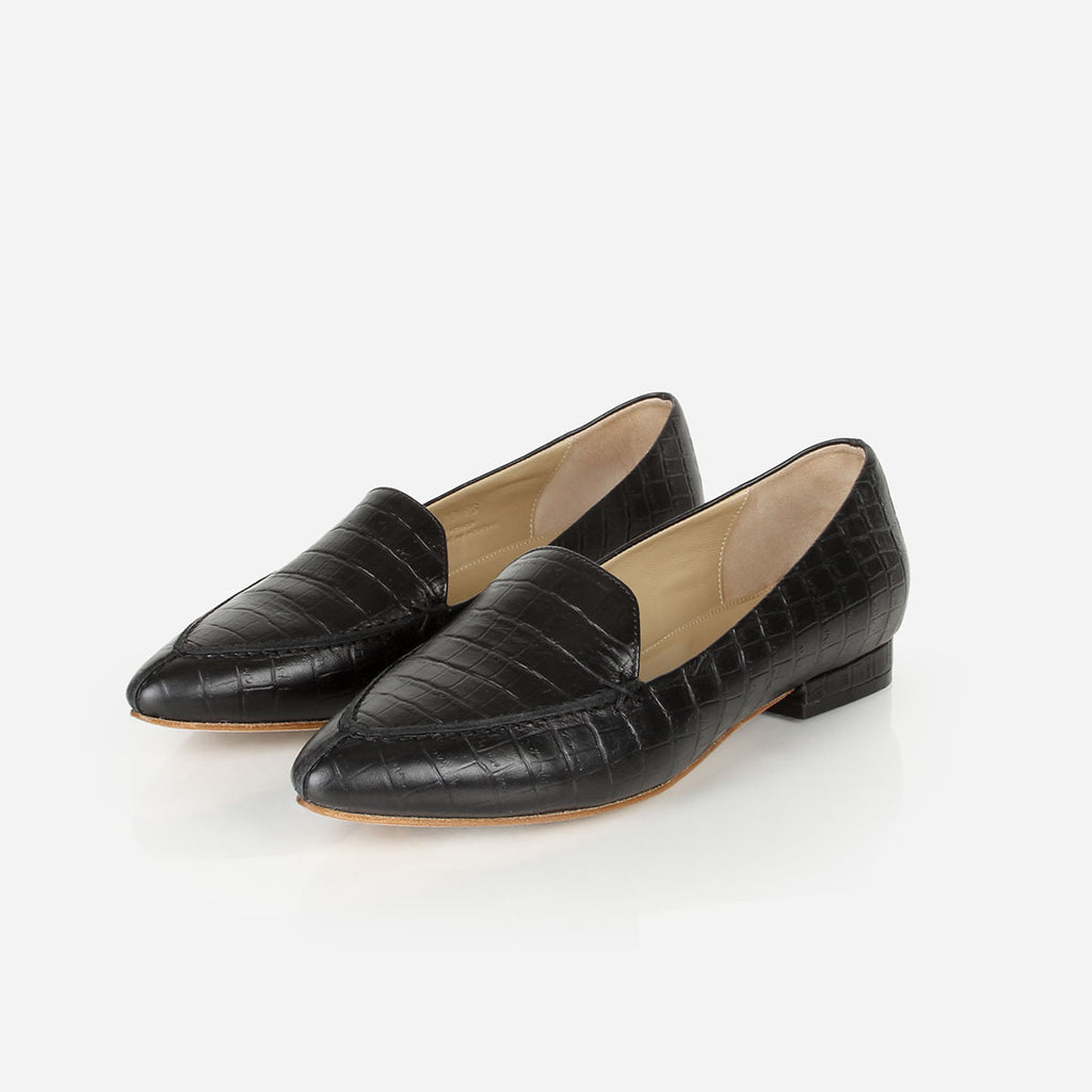 The Classic Loafer Black Croc Ready To Wear