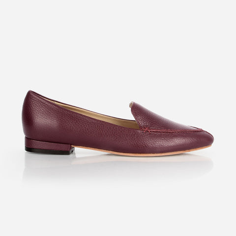 The Classic Loafer Bordeaux Pebble Made To Order