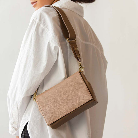 The Convertible Belt Bag Biscotti Pebble