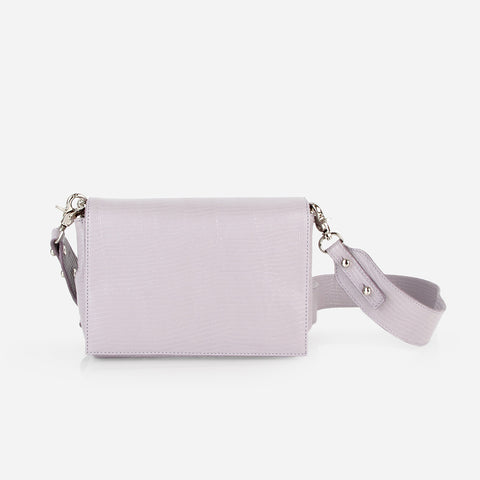 The Convertible Belt Bag Lilac Lizard