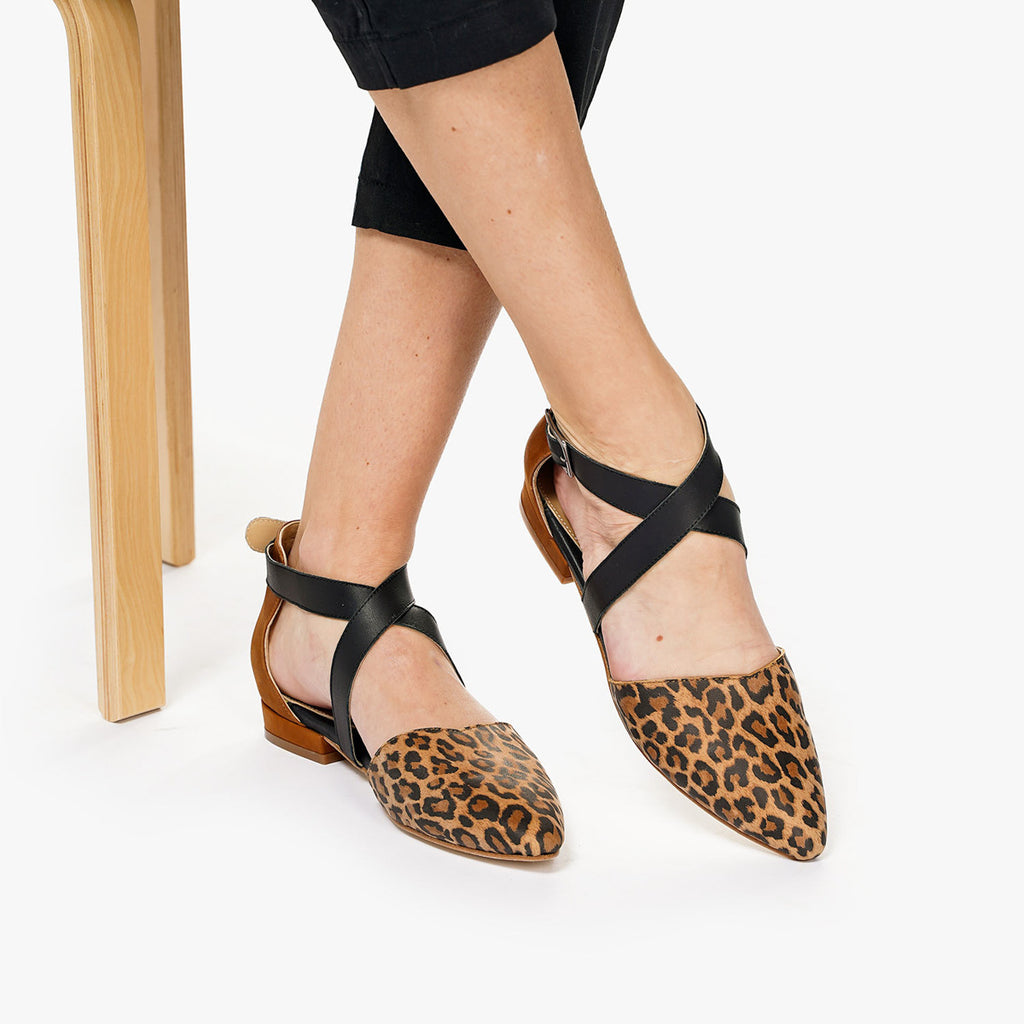 The Strappy Sandal Leopard Multi Ready To Wear