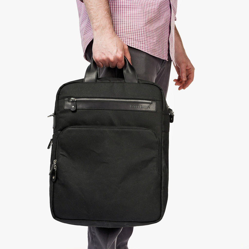 The Backpack Black Canvas