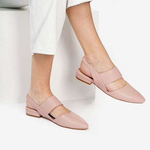The Slingback Mary Jane Blush Pebble Ready To Wear