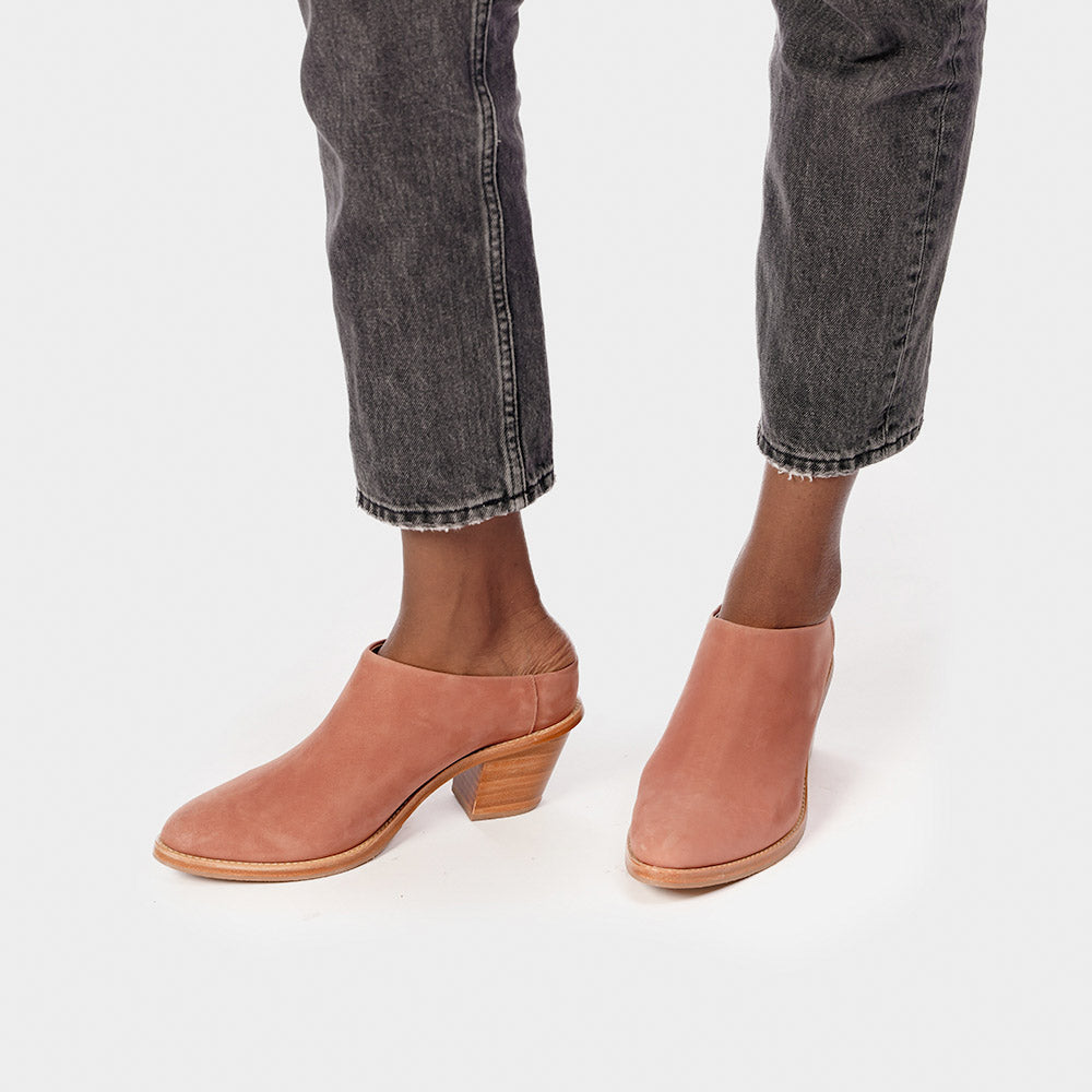 The Heeled Mule Dusty Rose Nubuck Ready To Wear
