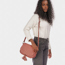 The Saddle Bag Dusty Rose Pebble