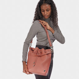 The Bucket Bag Dusty Rose Pebble