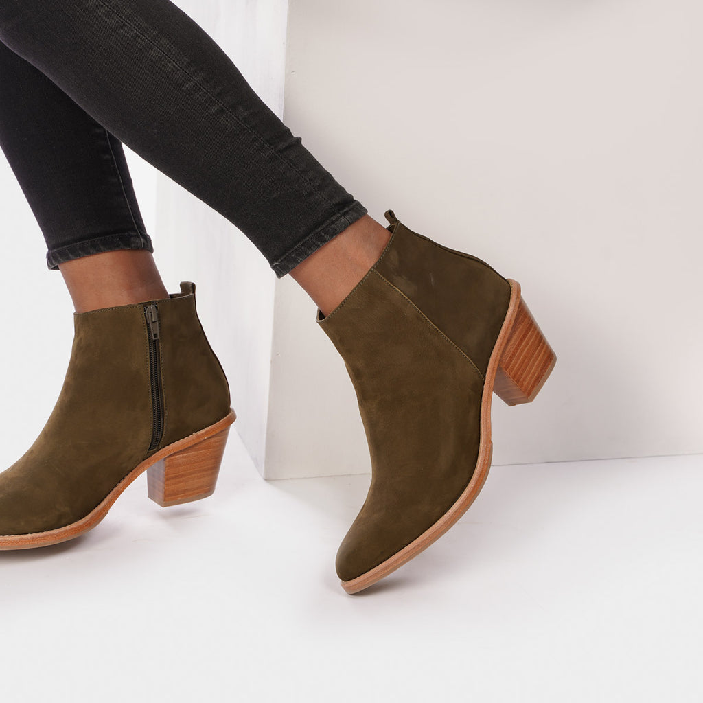 The Extra Mile Boot Olive Nubuck Ready To Wear