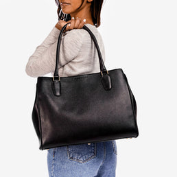 The Co-Worker Tote Black Pebble