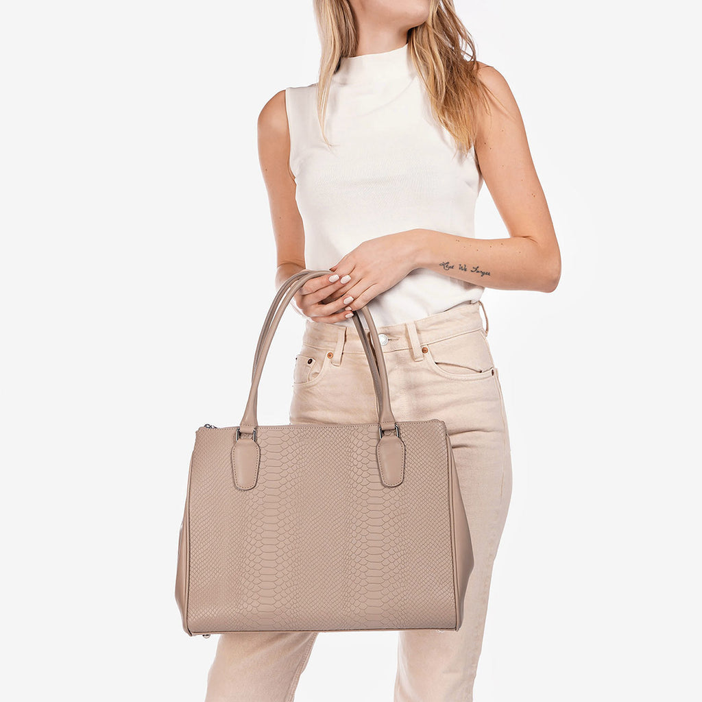The Co-Worker Tote Stone Python
