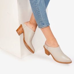 The Heeled Mule Dove Grey Ready To Wear