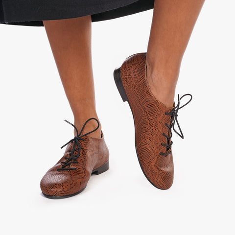 The Jazz Oxford Brown Snake Ready To Wear