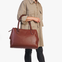The Co-Worker Tote Danish Brown Water Resistant