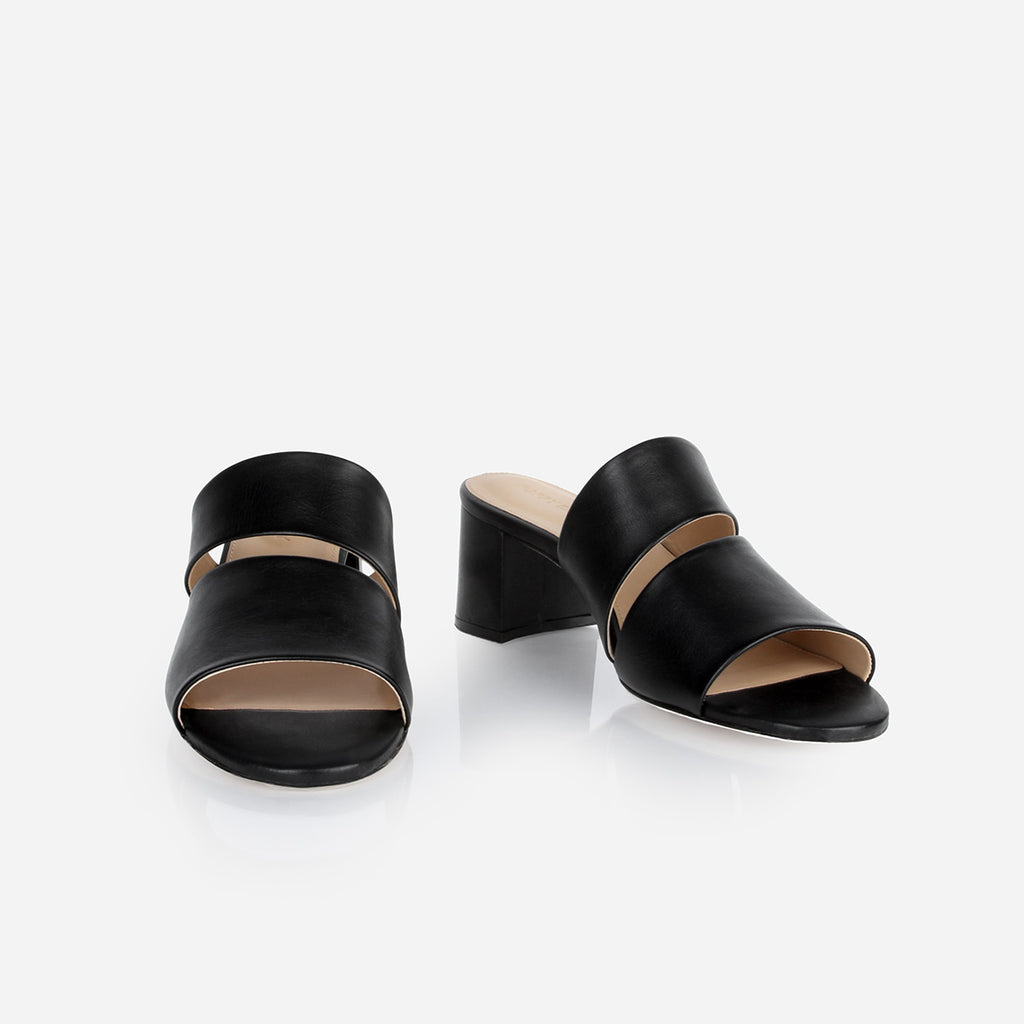 The Duet Heeled Sandal Black