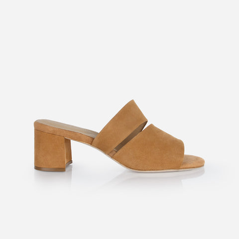The Duet Heeled Sandal Camel Suede Ready To Wear