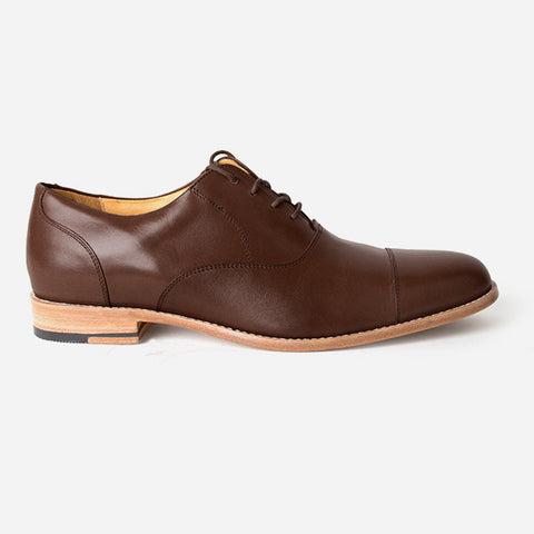 The Edmonton Oxford - mens brown leather dress shoes oxfords - Poppy Barley