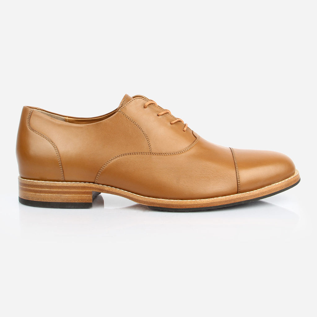 The Edmonton Oxford - mens tan leather dress shoes oxfords - Poppy Barley