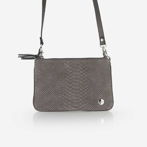 The Essentials Purse Smoke Grey Python
