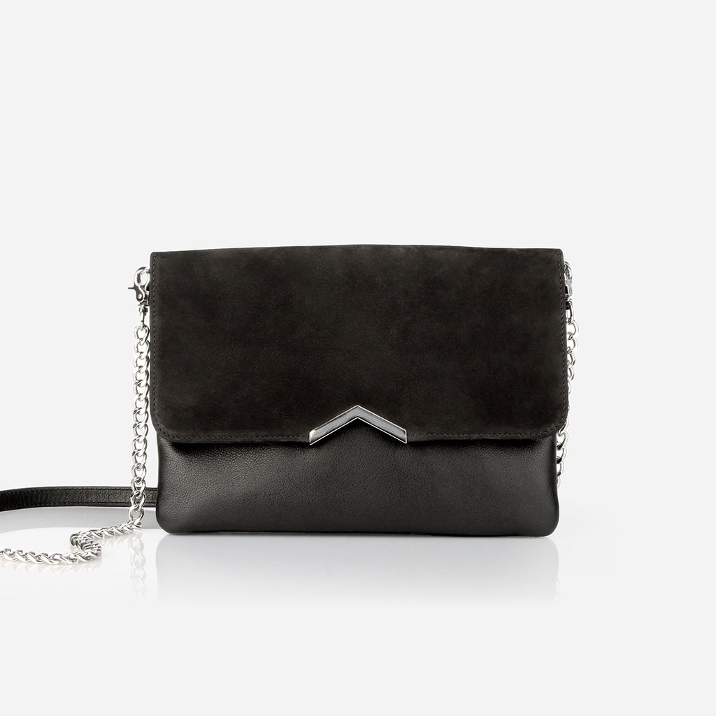 The Evening Clutch Black / Black Nubuck