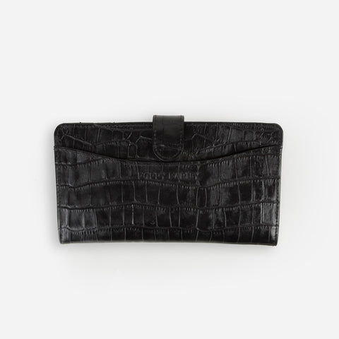 The Everyday Bifold Wallet Black Croc