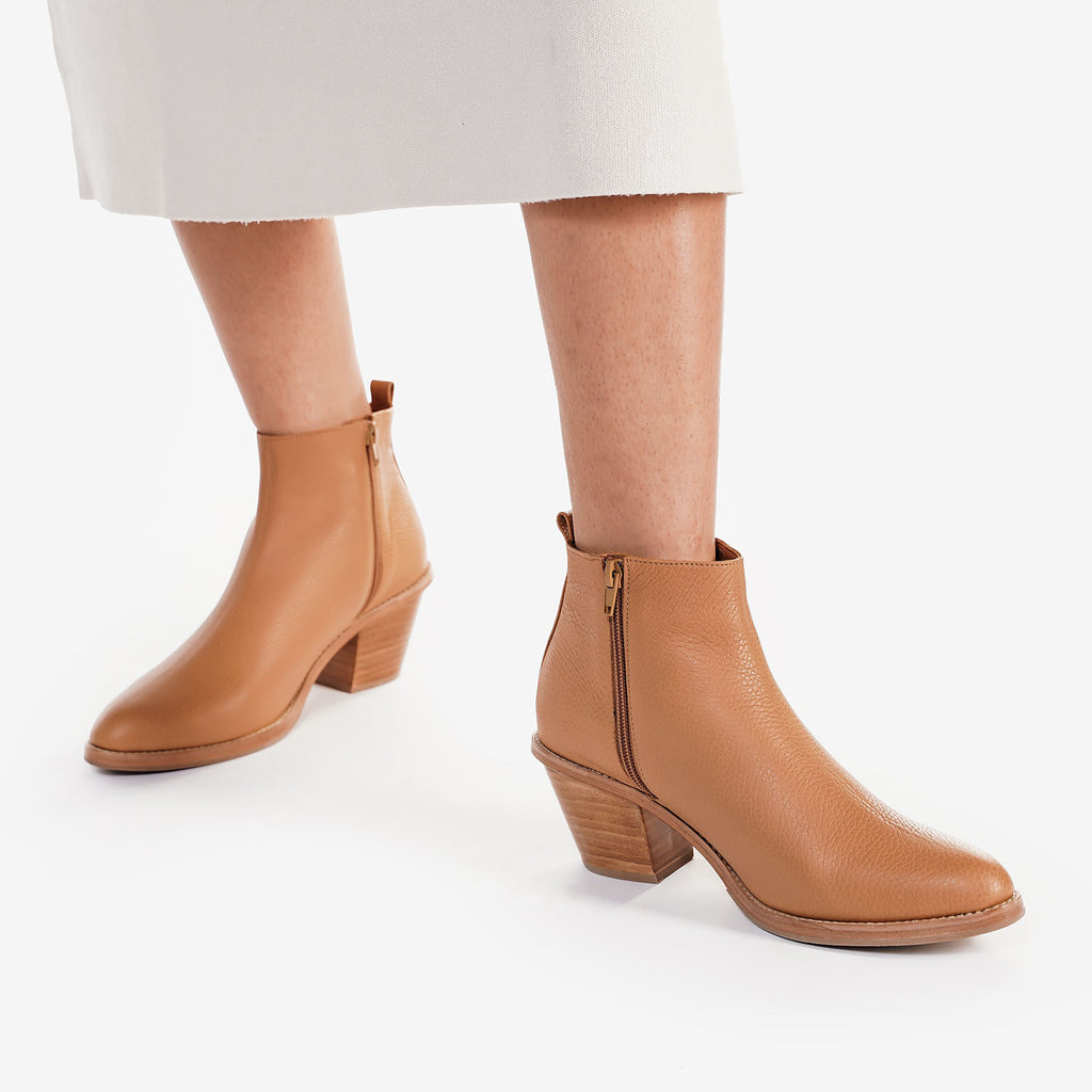 The Extra Mile Boot Caramel Pebble Ready To Wear