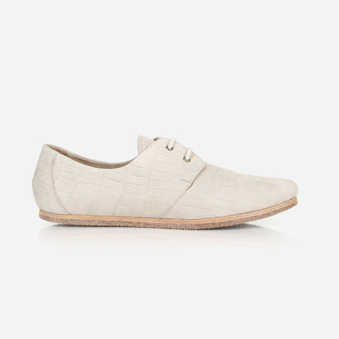 The Eyelet Oxford 2.0 Dove Grey Croc Nubuck Ready To Wear
