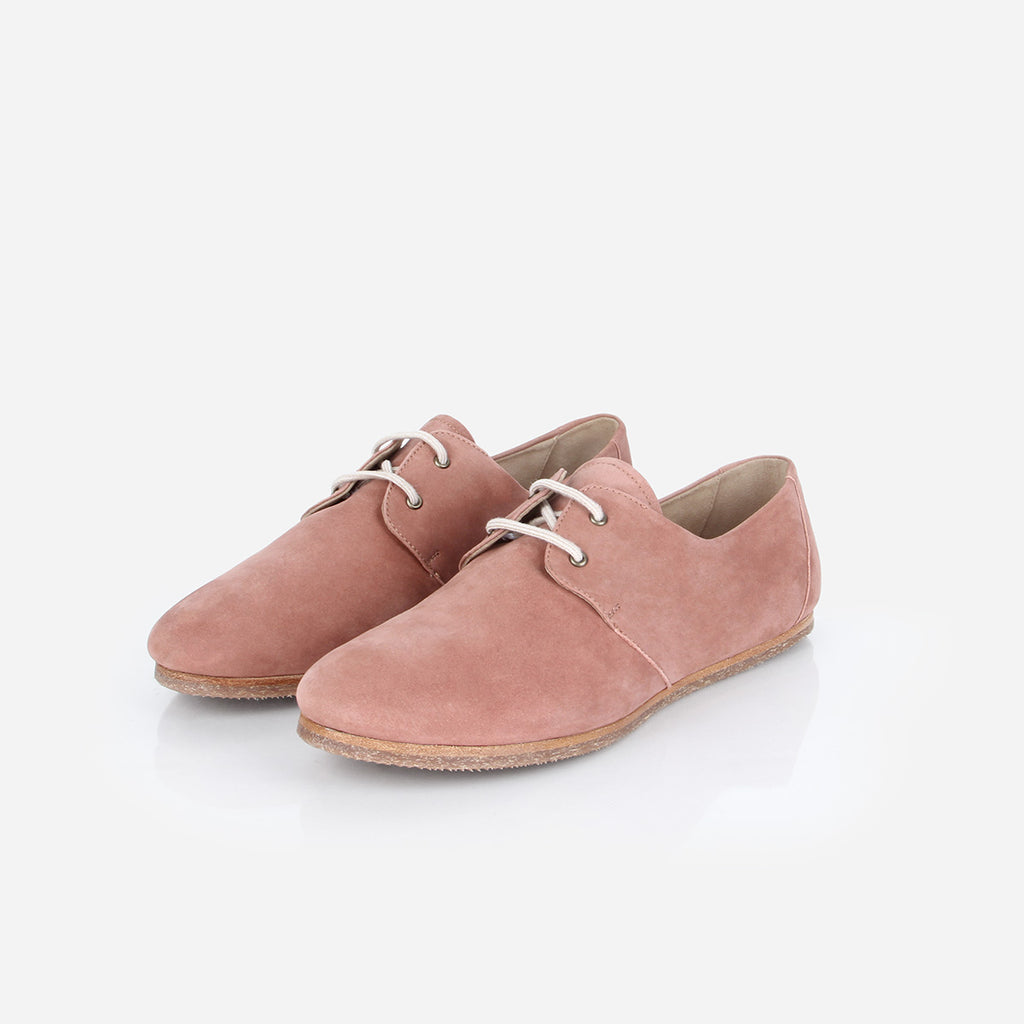 The Eyelet Oxford 2.0 Dusty Rose Nubuck Ready To Wear
