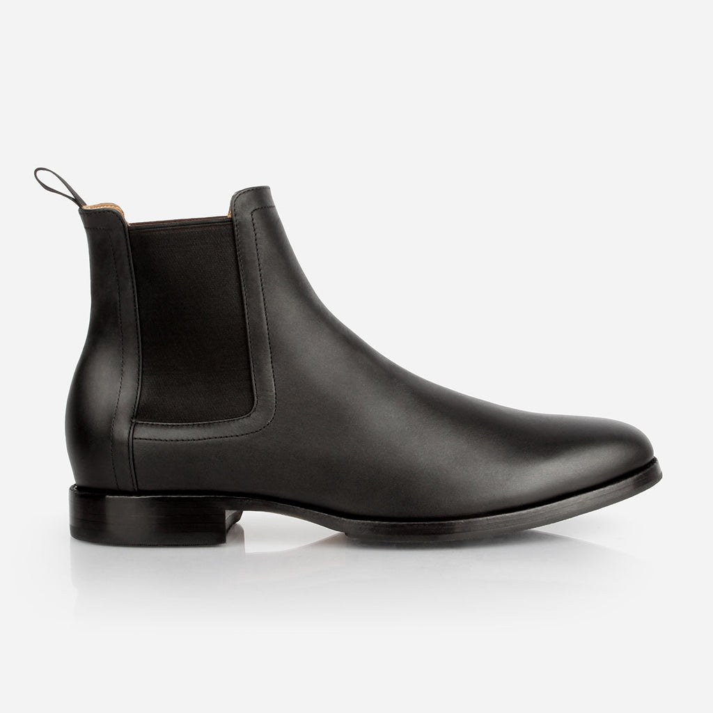 The Halifax Chelsea Boot - Black water resistant leather mens chelsea boot - Poppy Barley