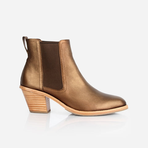 The Heeled Chelsea Boot Bronze Made To Order