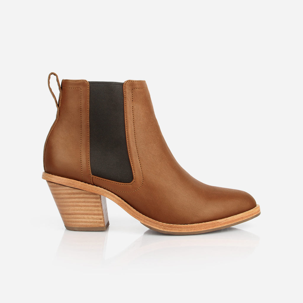 The Heeled Chelsea Boot Desert Tan Made To Order
