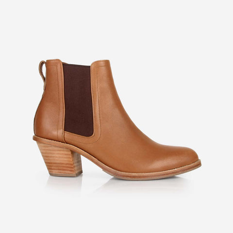The Heeled Chelsea Boot Toffee Tan Made To Order