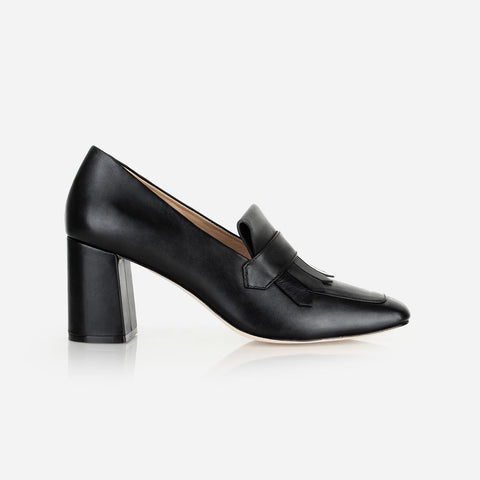 The Heeled Loafer Black